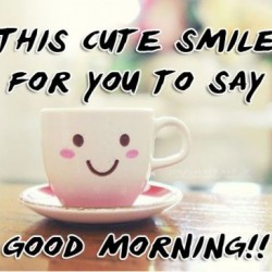 Good morning smile