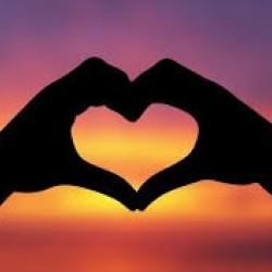 Hands together heart