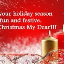 Christmas my dear candles